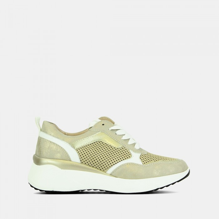 CASUAL/ SNEAKERS MUJER ORO...